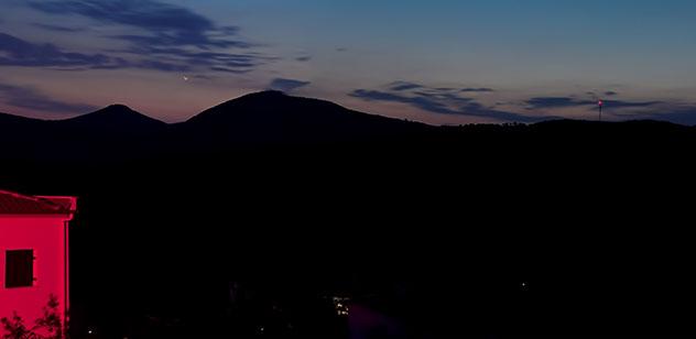 Nachts Richtung Westen