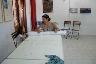 Art Hotel Panorama - 'felt' workshop 2013