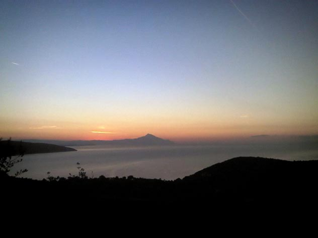 Pyrgadikia & Mt.Athos | sunset