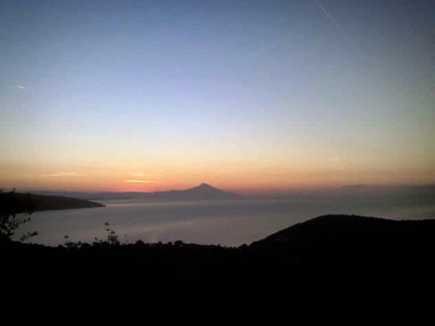 Pyrgadikia & Mt.Athos | sunset